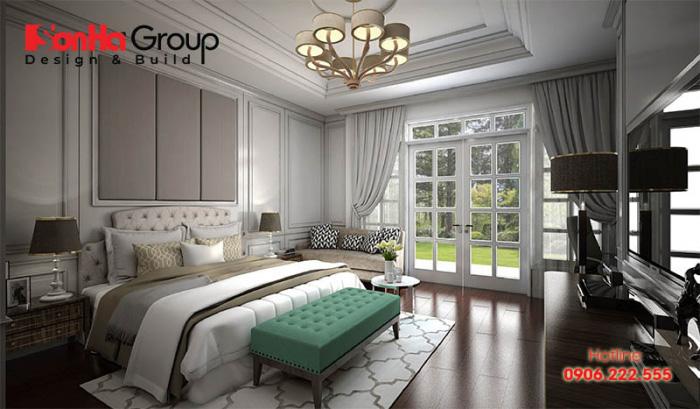 Mẫu phòng ngủ phong cách Pháp cổ điển với nội thất tiện nghi sẽ là không gian quen thuộc mà ai cũng muốn quay về sau một ngày làm việc căng thẳng