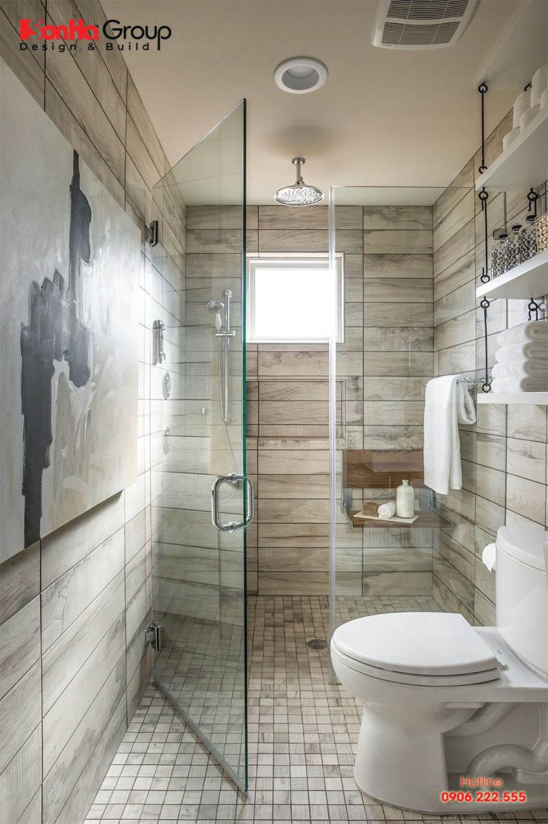 Mẫu phòng tắm nhỏ đẹp được bố trí hài hòa mang cảm giác không bao giờ chật chội