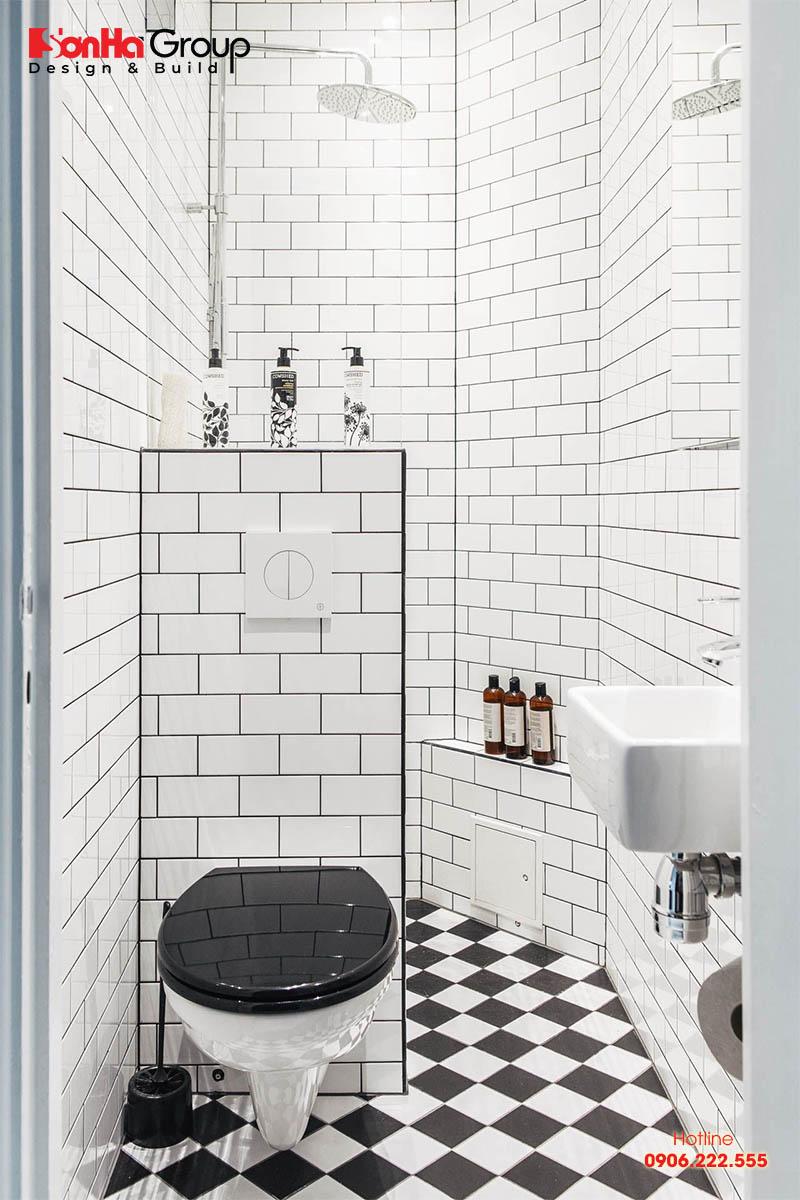 Mẫu phòng vệ sinh nhỏ đẹp 2m2 đẹp ấn tượng, cuốn hút người nhìn bởi phong cách hiện đại