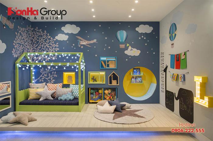 Màu sắc là một trong những yếu tố quyết định đến vẻ đẹp căn phòng ngủ của trẻ