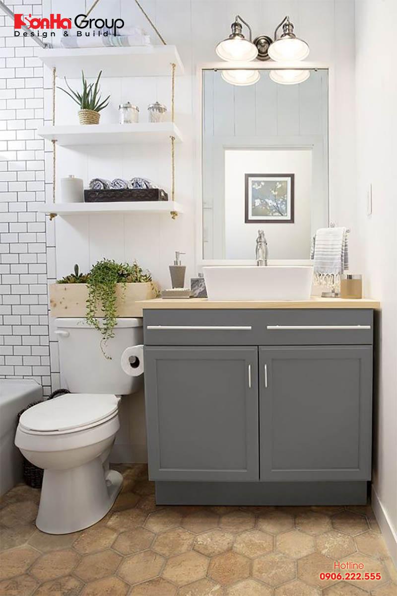 Mẫu thiết kế nhà tắm 2m2 nhỏ gọn đơn giản và tiện nghi