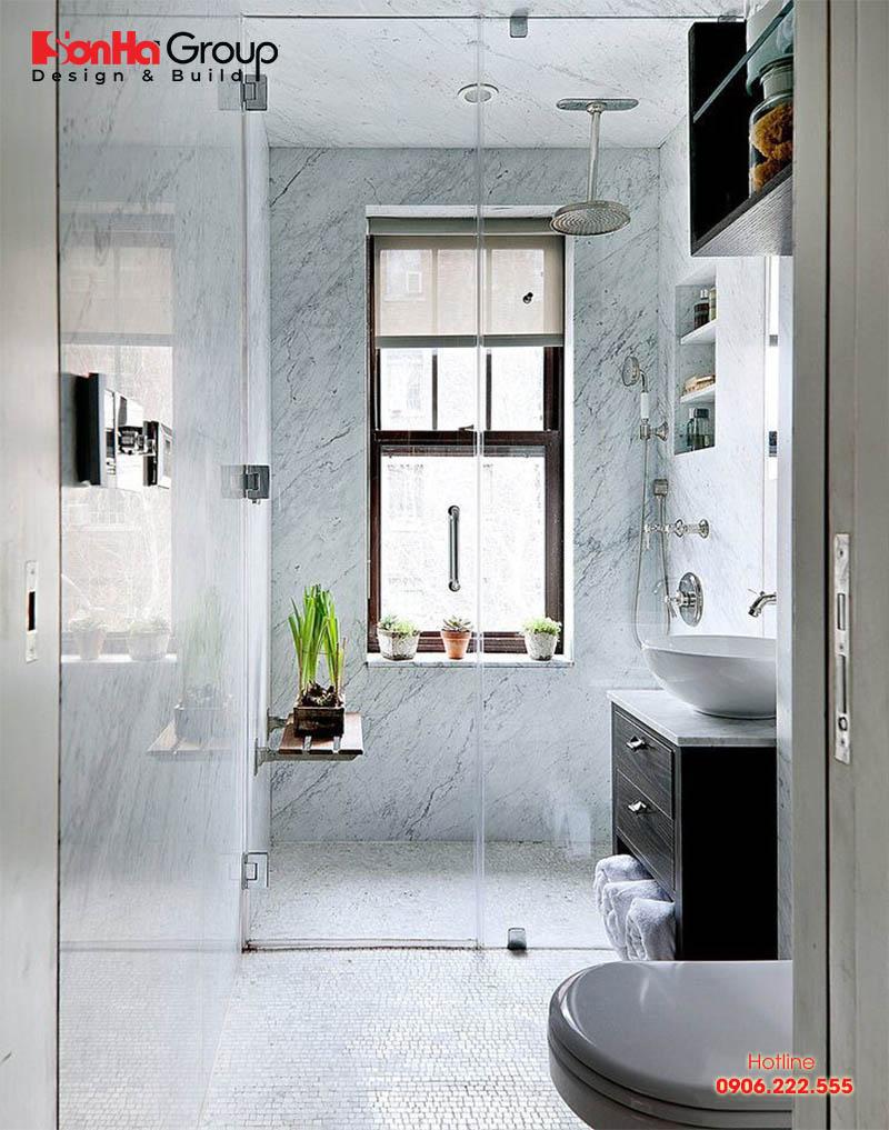 Mẫu thiết kế nhà vệ sinh diện tích nhỏ chỉ 2m2 nhưng vô cùng hiện đại