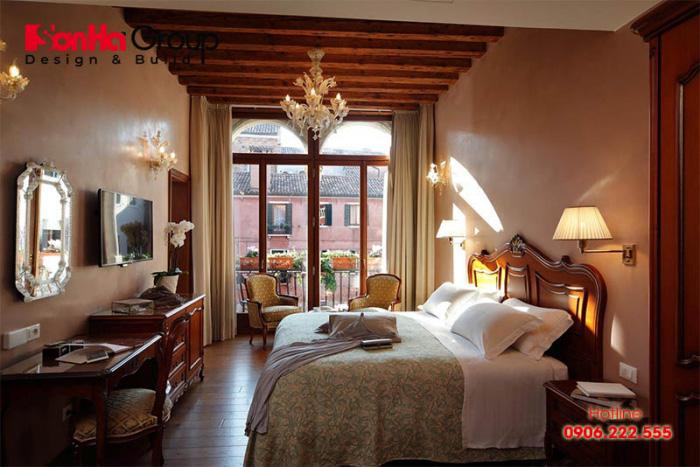 Mẫu thiết kế nội thất phòng ngủ khách sạn tiêu chuẩn 4 sao ấn tượng