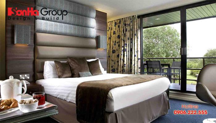 Mẫu thiết kế phòng ngủ 4 sao không gian mở mang phong cách hiện đại khiến bao người mê mẩn