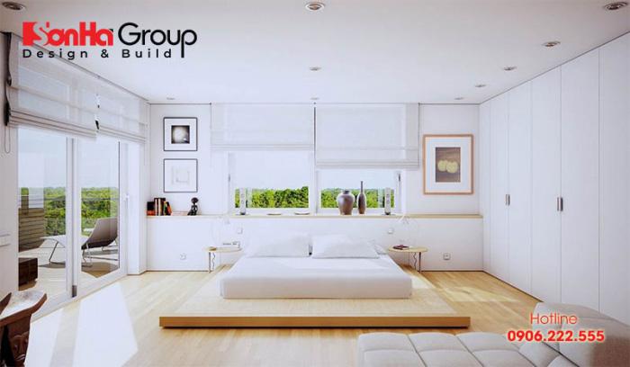 Mẫu thiết kế phòng ngủ không giường mang phong cách hiện đại thể hiện cá tính riêng biệt của chủ đầu tư