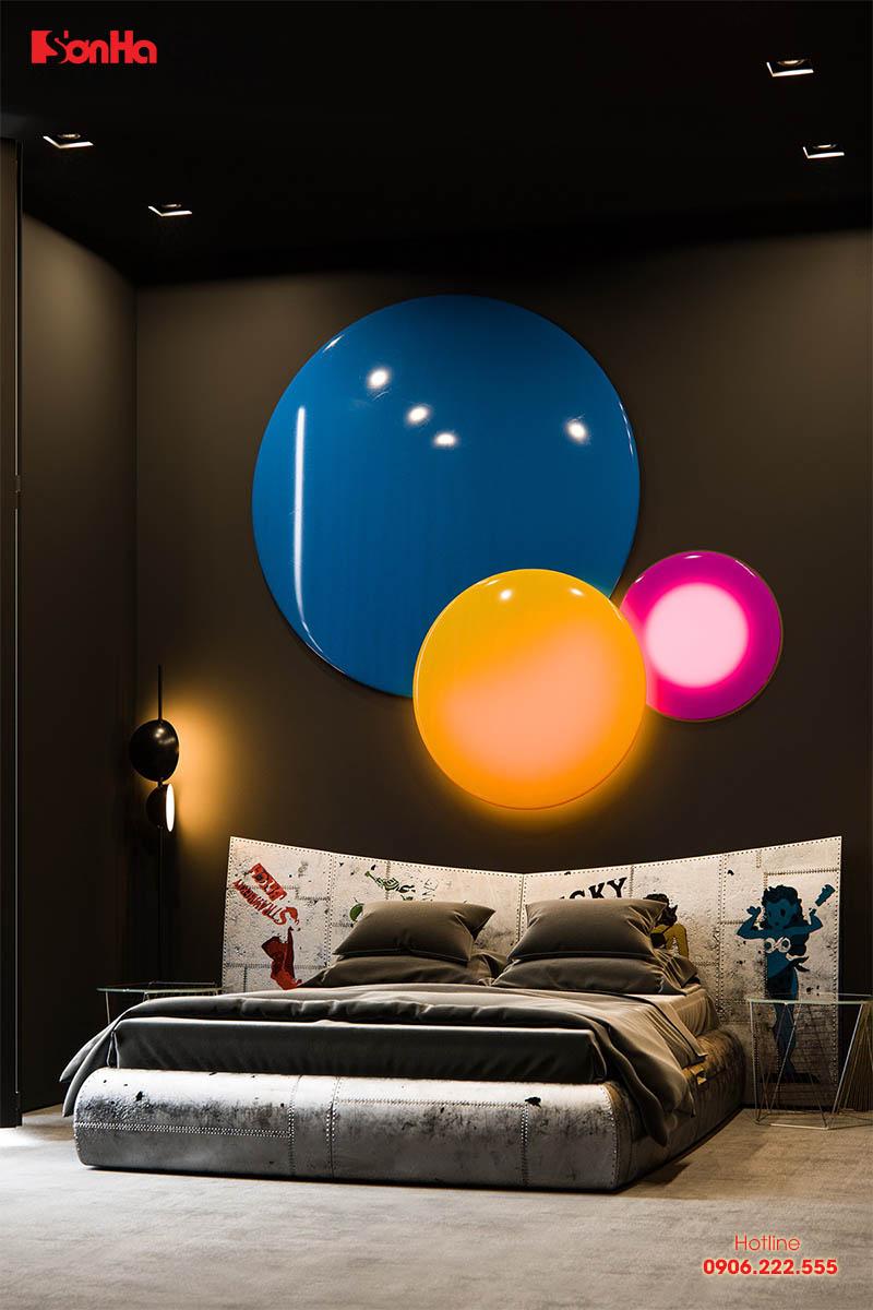 Mẫu thiết kế phòng ngủ màu đen đẹp hiện đại được yêu thích nhất hiện nay 2