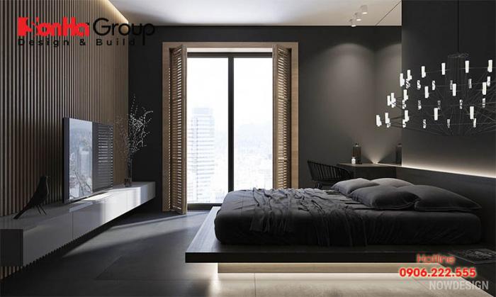 Mẫu thiết kế phòng ngủ màu đen đẹp hiện đại được yêu thích nhất hiện nay 3