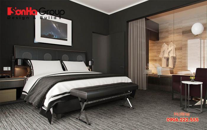 Mẫu thiết kế phòng ngủ màu đen đẹp hiện đại được yêu thích nhất hiện nay 4