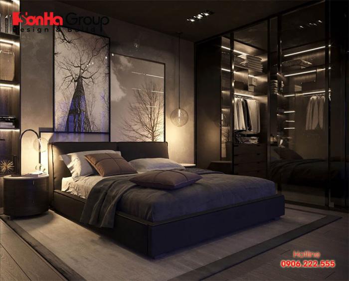 Mẫu thiết kế phòng ngủ màu đen đẹp hiện đại được yêu thích nhất hiện nay 5