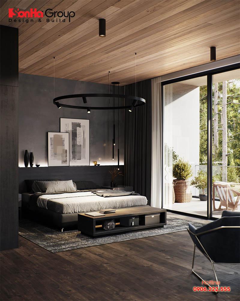 Mẫu thiết kế phòng ngủ màu đen đẹp hiện đại được yêu thích nhất hiện nay 6