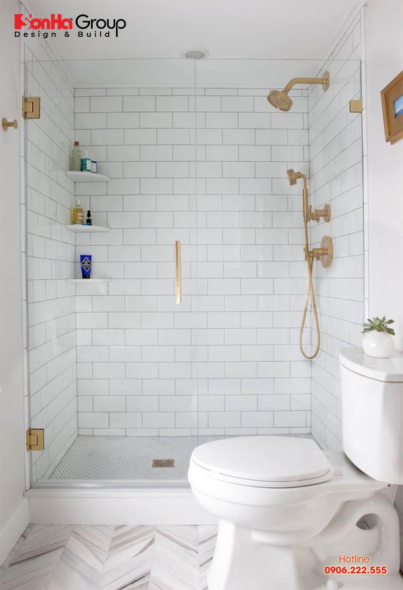 Mẫu thiết kế phòng tắm nhỏ 2m2 đẹp ấn tượng được bố trí một cách hợp lý