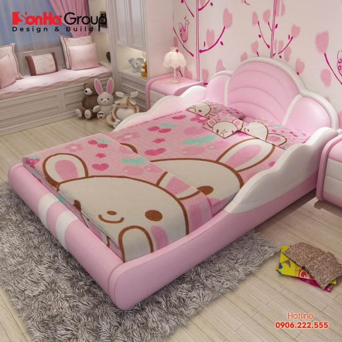 Một cách thiết kế nội thất phòng ngủ công chúa cho bé gái khác mang đậm dấu ấn của cô công chúa dễ thương