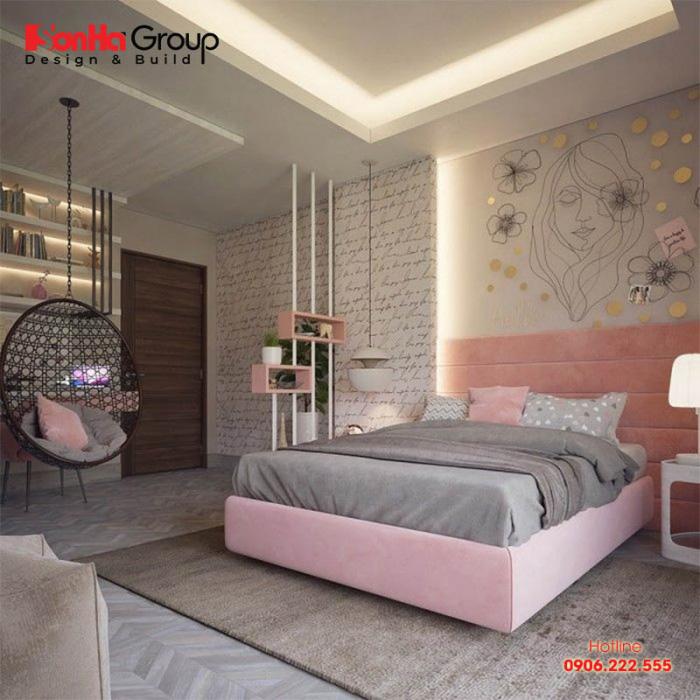 Một kiểu phòng ngủ đơn giản cho nữ đẹp ấn tượng cho cô nàng thích sự mộng mơ