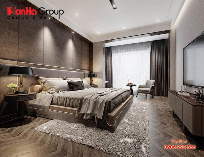 Nên trang trí phòng ngủ cho bố mẹ bằng những gam màu cổ điển, ôn hòa và trầm tĩnh