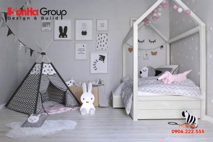 Những cô bé thích hướng nội thì mẫu phòng ngủ tuyệt đẹp này thực sự phù hợp