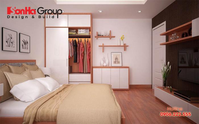 Nội thất đa năng, những thiết kế thông minh sẽ mang đến hiệu quả tận dụng không gian một cách tối ưu cho phòng ngủ nhỏ 10m2 cho vợ chồng