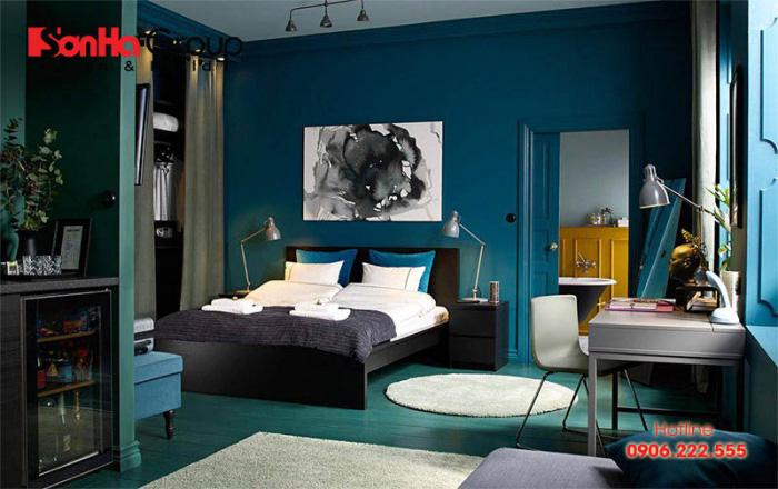Phòng ngủ của người mệnh Thủy nên để màu xanh lam, xanh nước biển