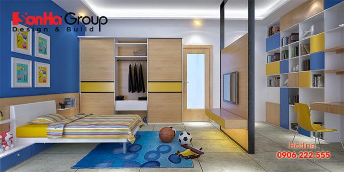 Phòng ngủ dành cho con trai đẹp và cá tính với căn phòng học, kết hợp phòng ngủ rộng rãi nhất