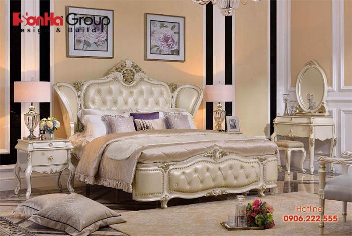 Phòng ngủ với mẫu nội thất phong cách hoàng gia điển hình