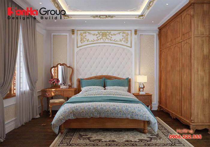 Sự đơn giản, sang trọng bao trùm không gian nội thất phòng ngủ kiểu Pháp có chi phí thi công phải chăng nhất hiện nay