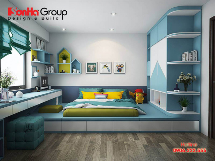 Sự sáng tạo về kiểu trang trí phòng ngủ cho bé gái luôn là đề tài hấp dẫn với bất cứ KTS Sơn Hà nào cũng rất thích thú thực hiện