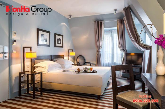 Tham khảo ý tưởng trang trí phòng ngủ khách sạn 4 sao với nội thất hiện đại cao cấp