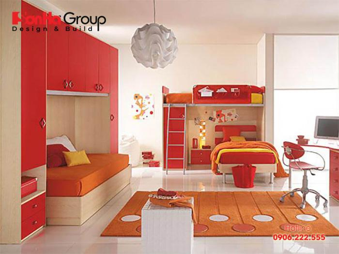 Thêm một mẫu thiết kế phòng ngủ dành riêng cho các bé cá tính