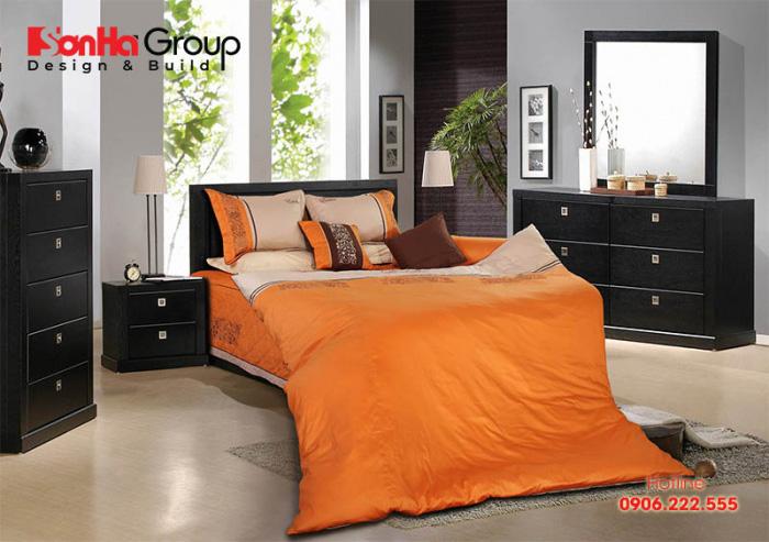 Thêm một ý tưởng thiết kế phòng ngủ màu cam với nội thất hiện đại, hợp thời