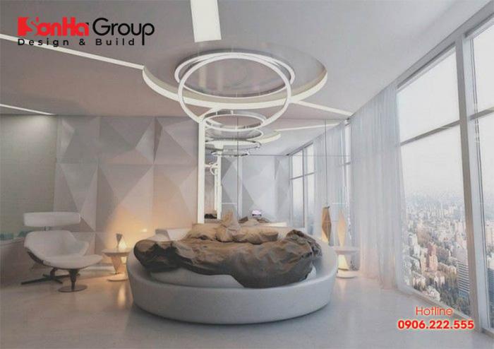 Thiết kế độc đáo tạo không khí ấm áp, dễ chịu trong khi nghỉ ngơi cho quý cô hiện đại
