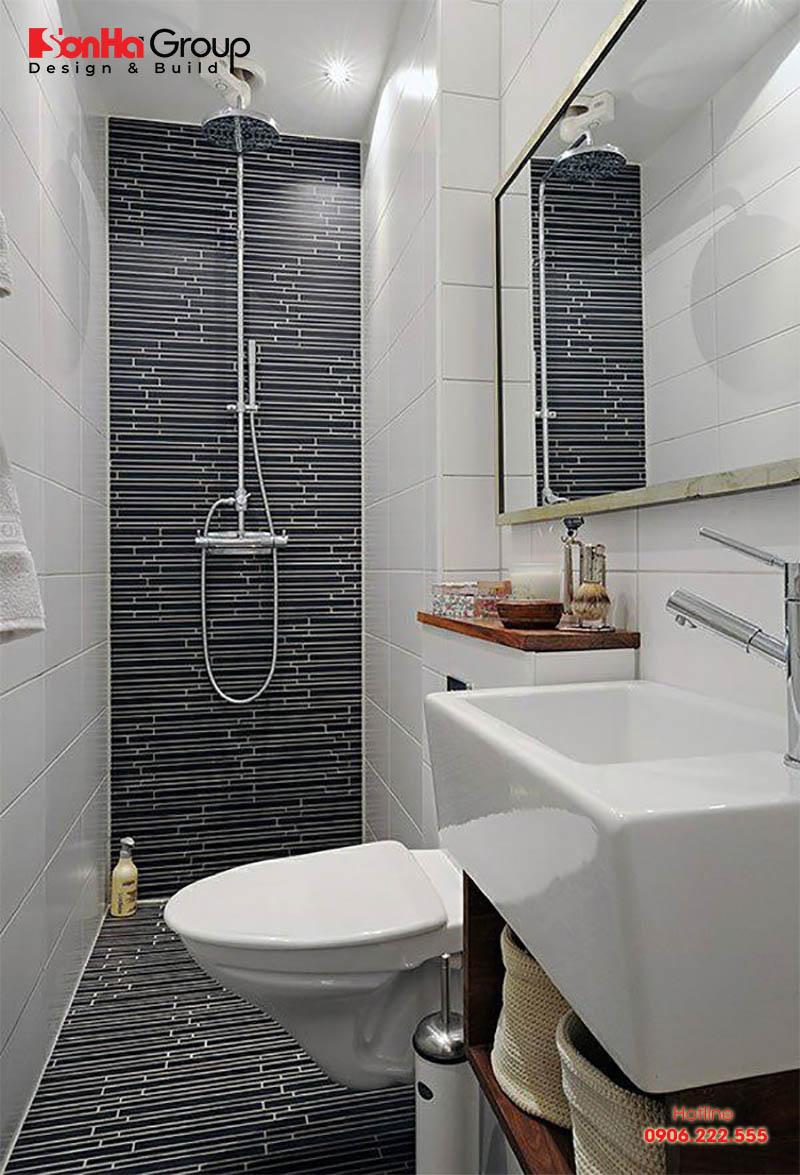 Thiết kế nhà vệ sinh nhỏ gọn giúp chúng ta thư giãn sau ngày dài lao động mệt mỏi