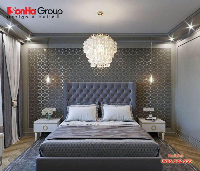 Thiết kế nội thất phòng ngủ đẹp mang phong cách tân cổ điển sang trọng và cuốn hút
