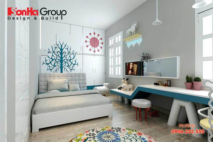 Thiết kế phòng ngủ bé trai tận dụng ánh sáng tự nhiên mang đến không gian thoáng đãng nhất
