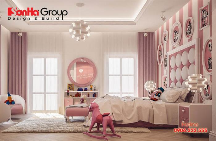 Thiết kế phòng ngủ cho bé gái đẹp theo đúng độ tuổi và sở thích của trẻ