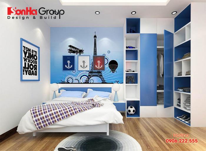 Thiết kế phòng ngủ cho bé trai 10tuổi được nhiều phụ huynh quan tâm