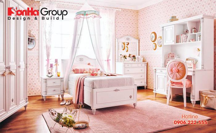 Thiết kế phòng ngủ kiểu công chúa đẹp cho con gái mà bố mẹ không nên bỏ qua