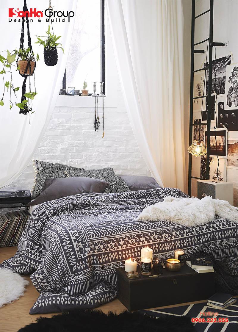 Thiết kế phòng ngủ phong cách Bohemian (Boho) còn dành cho những quý cô yêu sự lãng mạn