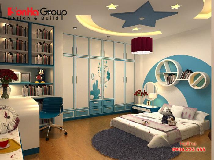 Thiết kế, trang trí phòng ngủ theo chủ đề dựa trên sở thích của trẻ nhằm khơi gợi tính ham học hỏi của trẻ