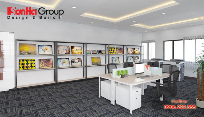 Thiết kế văn phòng theo phong cách tối giản sẽ sử dụng càng ít các chi tiết trang trí càng tốt
