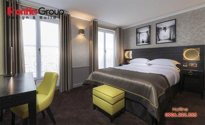 Ý tưởng thiết kế phòng ngủ hiện đại tuyệt đẹp đạt tiêu chuẩn 4 sao cao cấp