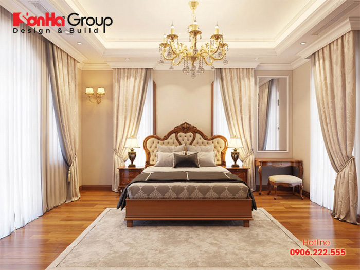 Ý tưởng thiết kế phòng ngủ sang trọng với nội thất gỗ kiểu tân cổ điển đón đầu xu hướng