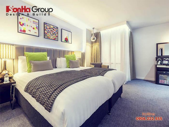 Ý tưởng trang trí phòng ngủ khách sạn 4 sao đẹp cùng cách bố trí khoa học, hiện đại