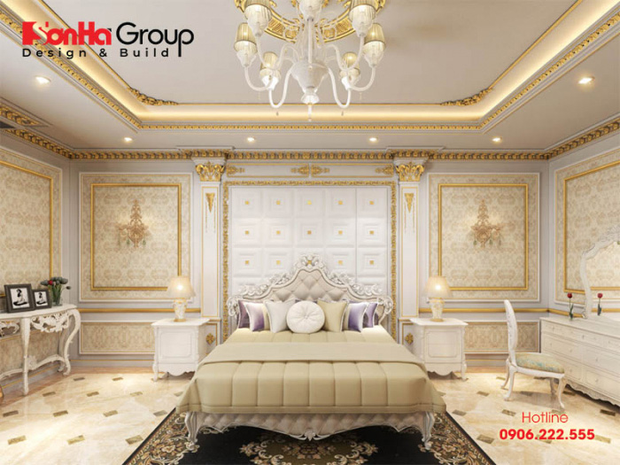 Ý tưởng trang trí phòng ngủ tân cổ điển có thiết kế nội thất đẹp, màu sắc độc đáo thể hiện cá tính riêng của gia chủ