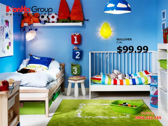 Ý tưởng trang trí phòng ngủ tạo ra không gian nghỉ ngơi, vui cơi lsy tưởng cho trẻ