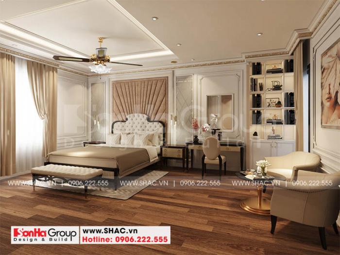 Thiết kế nội thất master với vật dụng xuất sứ và chất lượng cao cấp