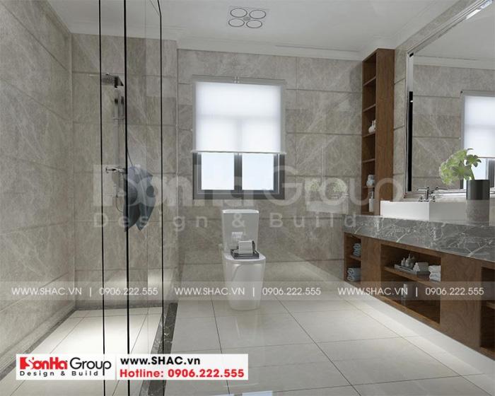 Bố trí nội thất phòng tắm –wc hiện đại tiện nghi trong căn phòng ngủ master