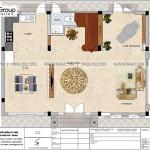 12 Mặt bằng tầng 1 biệt thự kiểu tân cổ điển đẹp tại vinhomes imperia hải phòng vhi 008