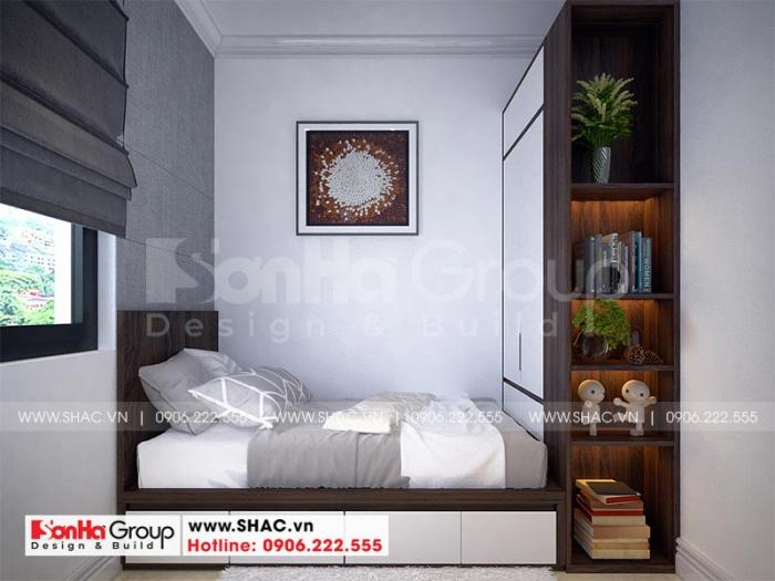 Phương án thiết kế phòng ngủ giúp việc đẹp tại tầng 1 ngôi biệt thự