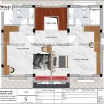 13 Bản vẽ tầng 2 biệt thự tân cổ điển 3 tầng tại vinhomes imperia hải phòng vhi 008