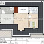 15 Bản vẽ tầng tum biệt thự có sân vườn kiểu tân cổ điển tại vinhomes imperia hải phòng vhi 008