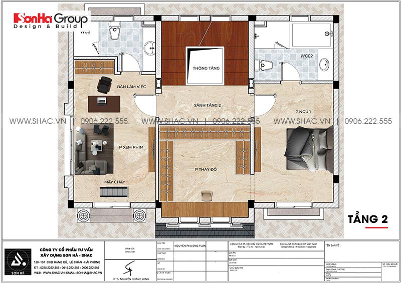 Thiết kế nội thất biệt thự Vinhomes Imperia 12m x 11,8m phong cách tân cổ điển tại Hải Phòng 19
